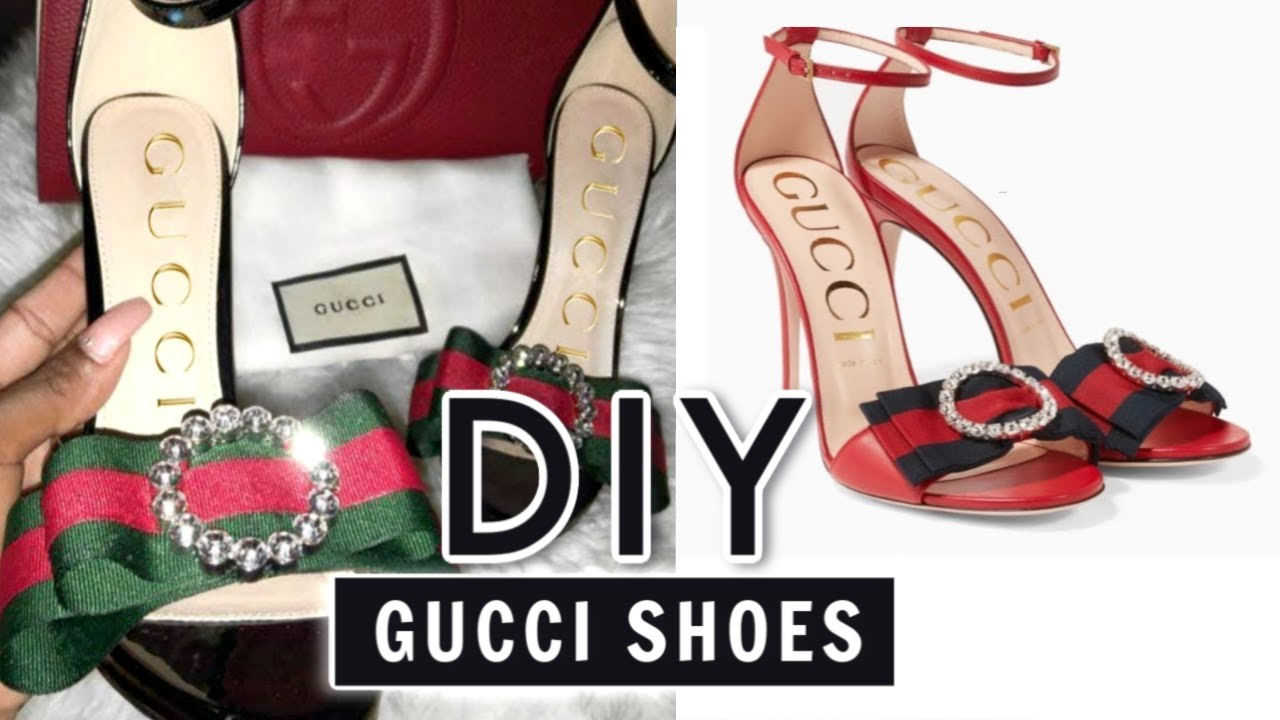 17d5c59ece3 DIY Gucci Inspired Shoes - YouTube