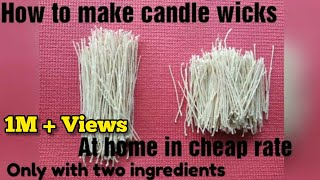 How to make candle wicks at home in cheap rates candle wicks making in 3 mins with thread