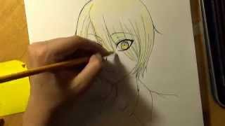 Drawing Izumi Sena from the anime Love Stage!