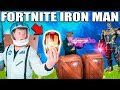 FORTNITE BOX FORT BATTLE IRL!! 📦⛏ Thanos Vs Iron Man