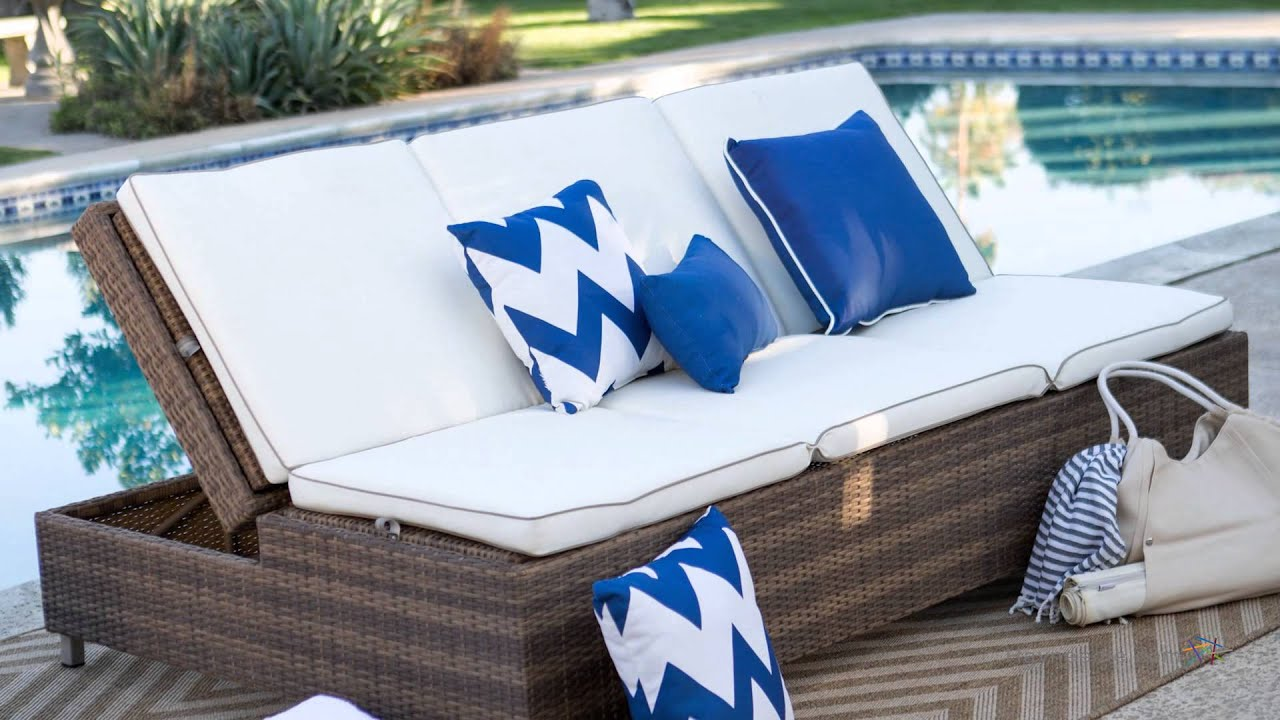 sunbrella lounge double cushion outdoor boylston chaise cushions