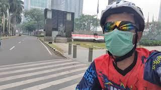 Keseruan Sepedaan ke Sudirman dari BKT Jakarta Timur