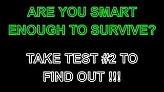BEST zombie apocalypse survival test number 2 - road scenario