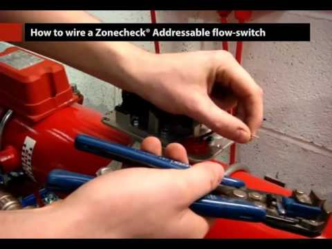 hqdefault wiring a zonecheck addressable flow switch youtube wiring diagram potter tamper switch at bayanpartner.co