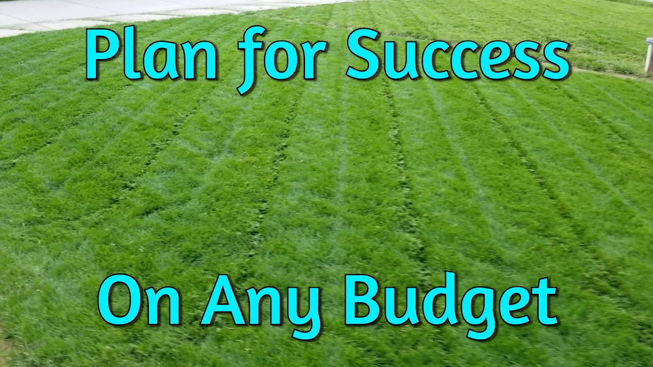 creating a lawn care plan for any budget