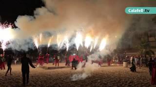 Timbalada, presentació dels Diablons Mite'ls i Correfoc a les festes majors de Calafell 2017