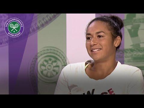 Heather Watson Wimbledon 2017 first round press conference
