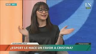 ¿Espert le hace un favor a Cristina Kirchner?