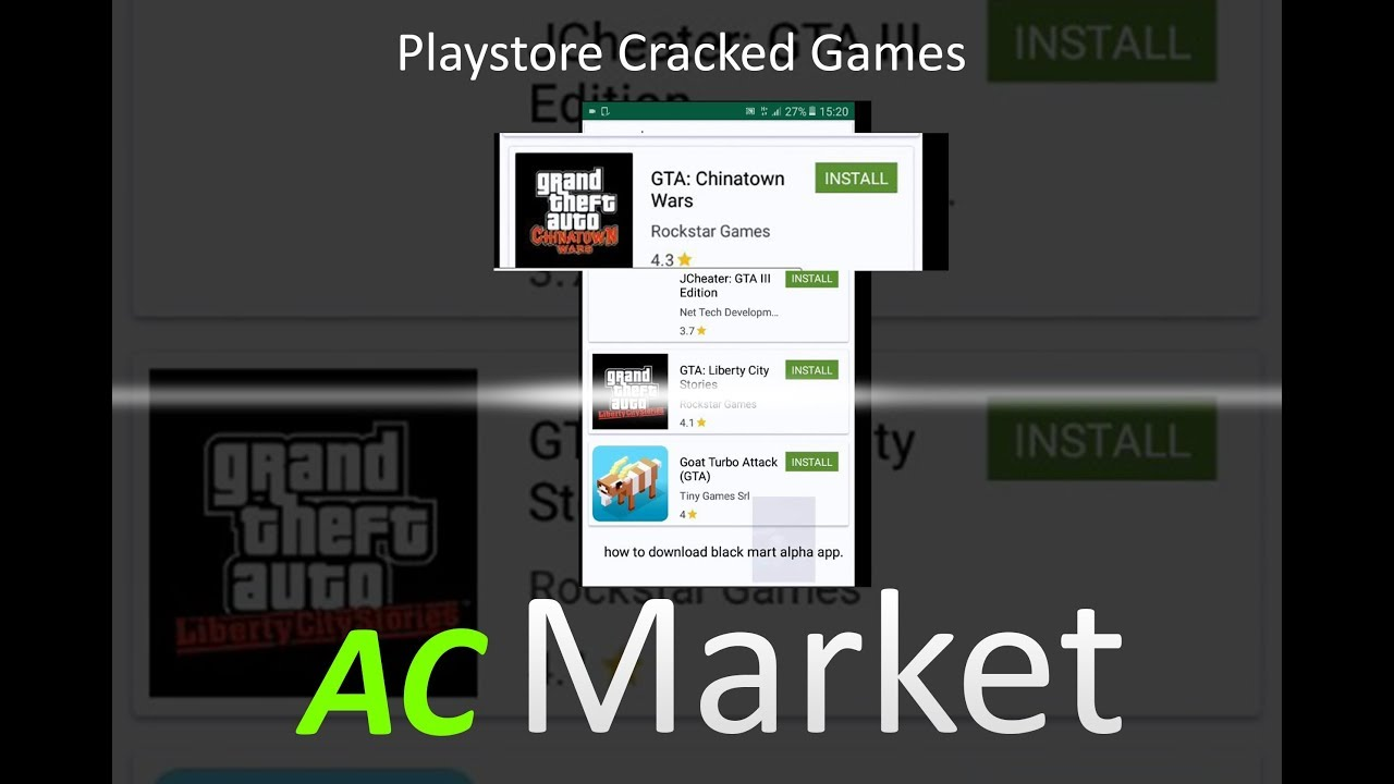 Download AC market Play store Hacked Games