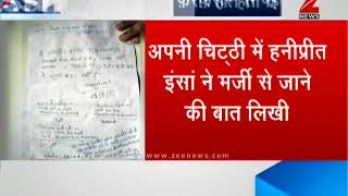 Honeypreet's letter reveals she left with a constable