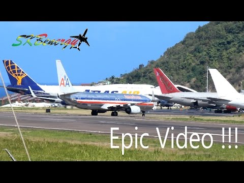 Epic !!!! 747-400, 767-300, 757-200, 737-800, 727-200F, MD-80 action @ St Kitts R.L.B Int'l Airport
