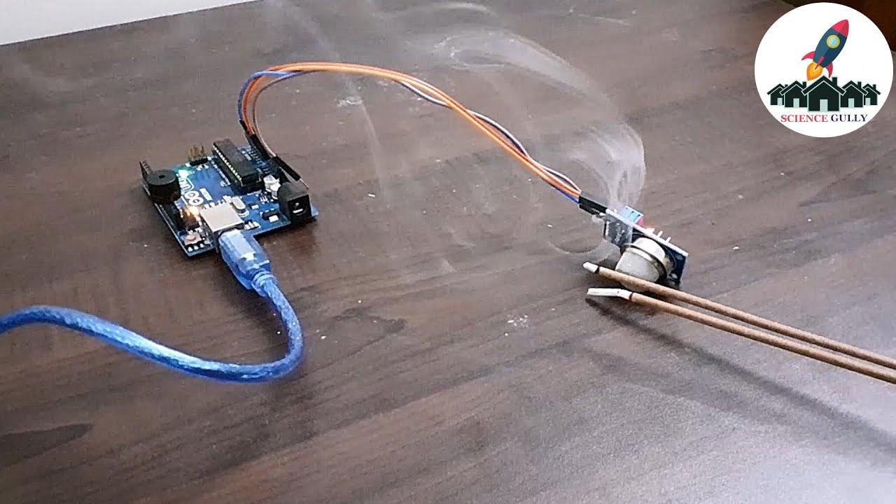 Smoke detection with MQ-2  Gas sensor using ARDUINO UNO