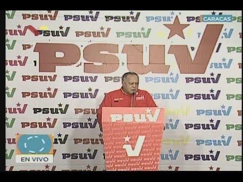 Diosdado Cabello en rueda de prensa del PSUV, 16 de julio de 2018