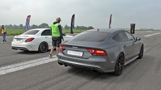 Audi RS7 Sportback vs Mercedes-AMG C63S vs BMW M4