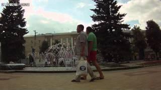 курсанты из воронежа девушки и мальчики гуляют на площади победы