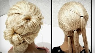 Красивая и быстрая прическа.Пошагово!Beautiful and fast hairstyle. Step by step!