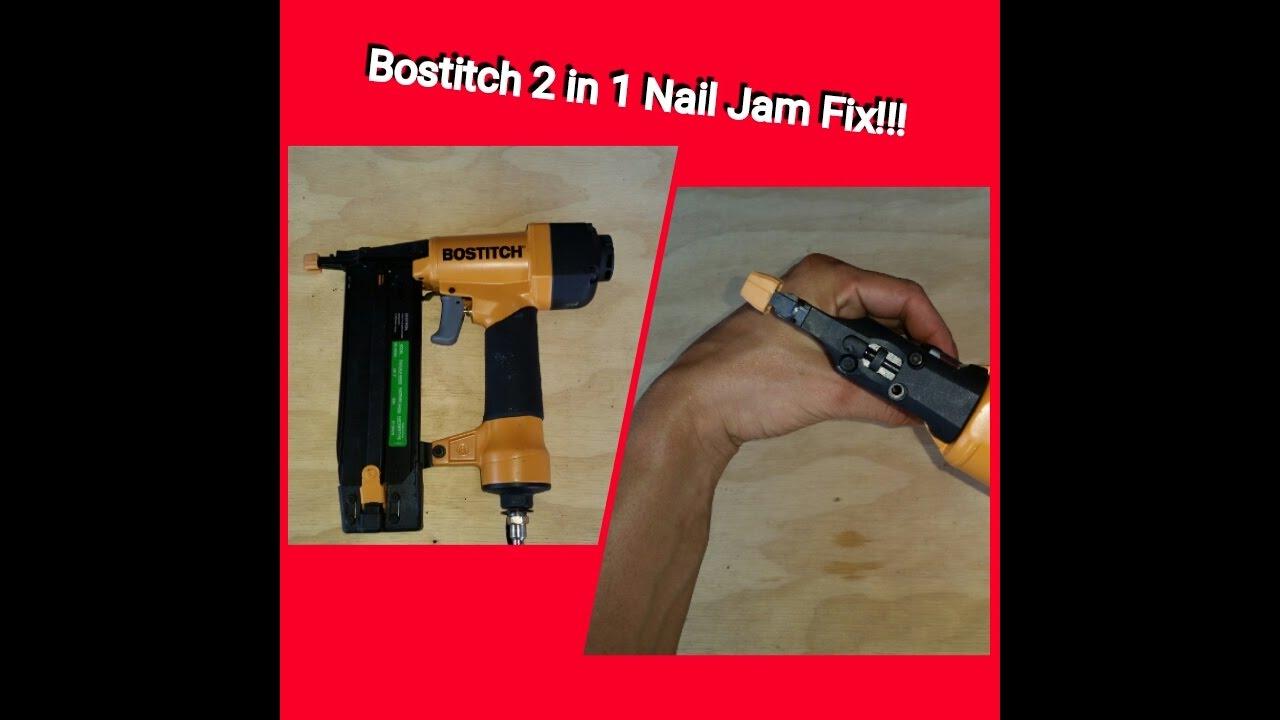Bostitch 2 In1 Finish Nail Gun Jam Fix  Model
