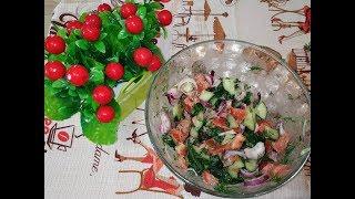 ОЧЕНЬ вкусный САЛАТ на скорую руку! Как приготовить САЛАТ из помидор и огурцов!