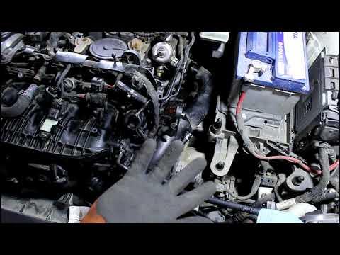Замена помпы + термостат водяной насос на Skoda Octavia 1,8 турбо Шкода Октавия 2013 года  2часть