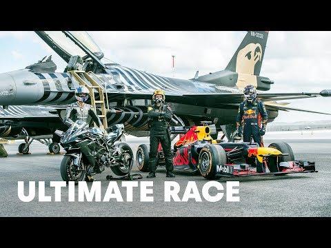 F1 Car vs F16 Fighter Jet vs Tesla vs Private Jet vs Ninja H2R vs Super Cars   Ultimate Race