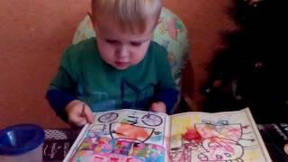 СВИНКА ПЕППА рисуем раскраску Развивающие уроки для маленьких видео для детей