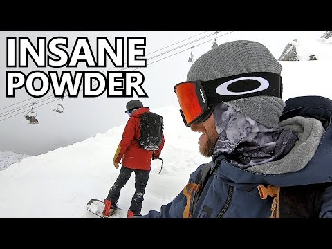 Insane Powder Snowboarding Whistler Peak