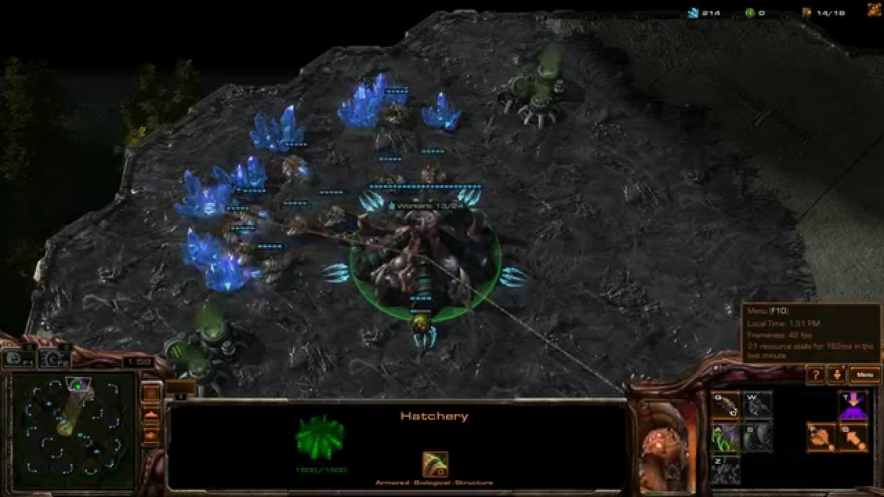 StarCraft 2 Linux Mint Gameplay