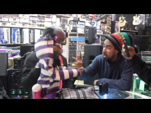 CINDY HOT CHOCOLATE VISITS MUSIC STORE