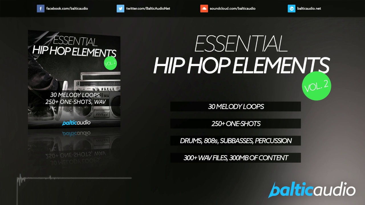 Essential Hip Hop Elements Vol 2 (30 Melody Loops, 250+ Oneshots, WAV)