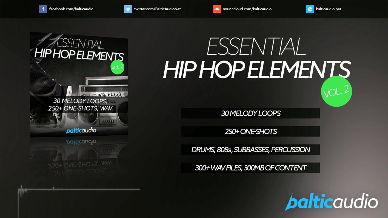 Essential Hip Hop Elements Vol 2 (30 Melody Loops, 250+ Oneshots, WAV)