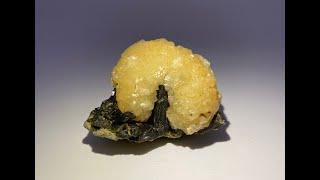 Stilbite with Epidote Mineral Specimen from Diamonkara, Mali