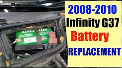 2008-2010 Infiniti G37 Battery Replacement