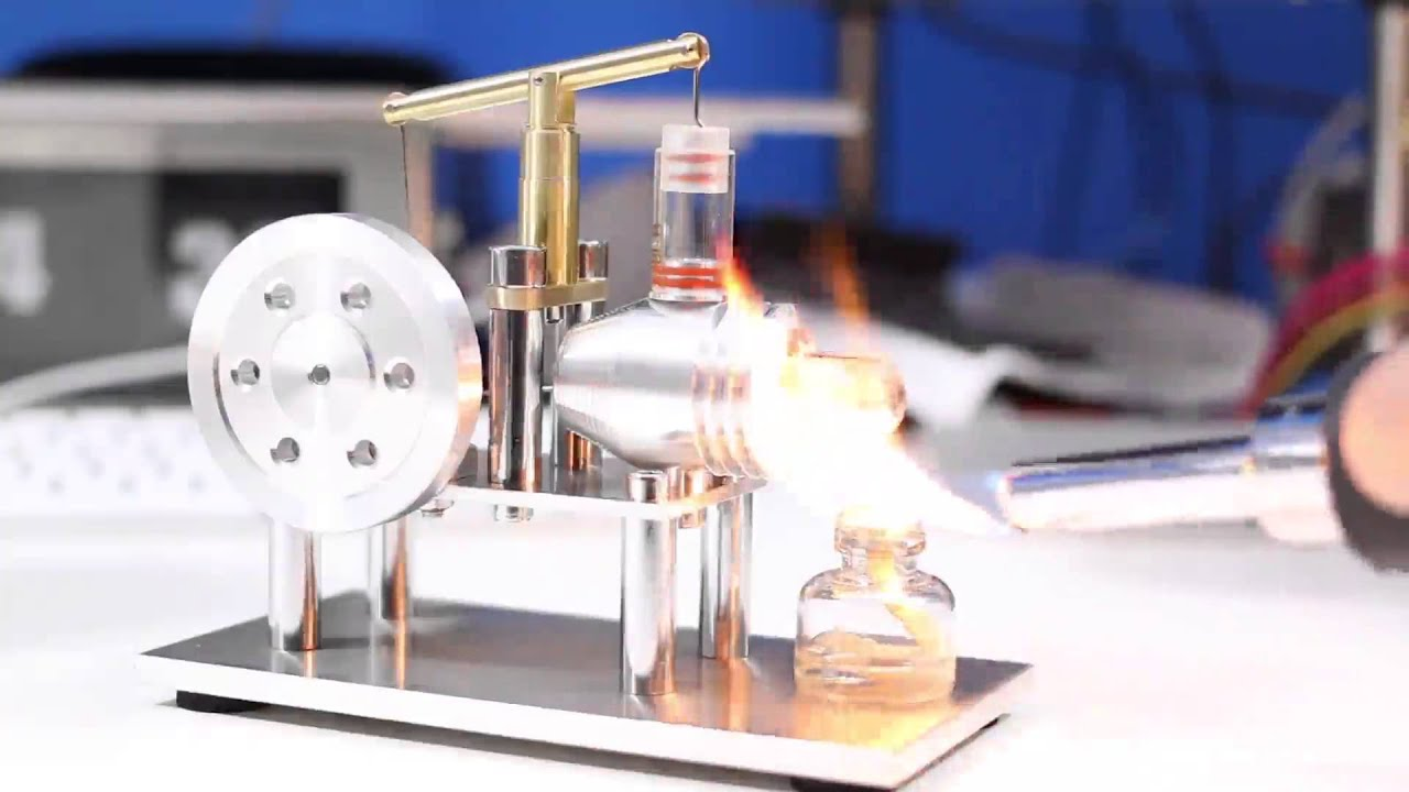 Sunnytech hot Air Stirling Engine Model Education Toy Electricity