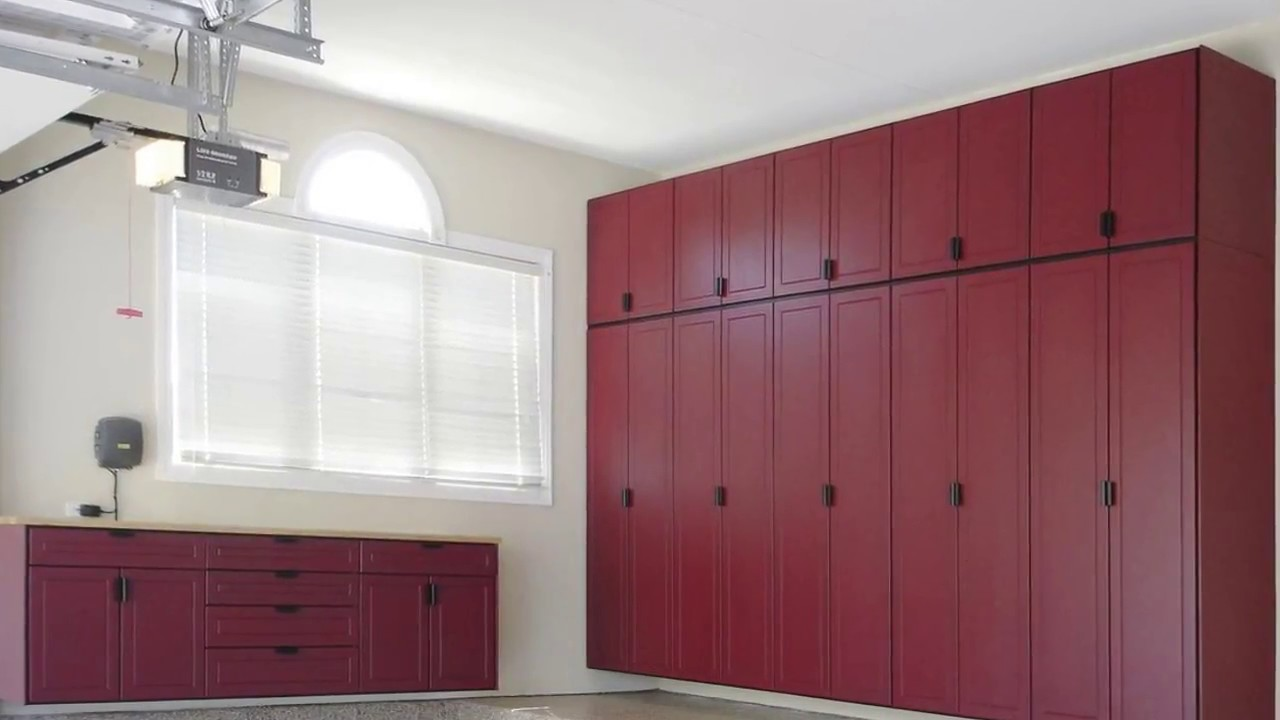 Garage Wall Cabinets With Sliding Doors Youtube