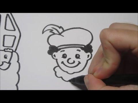 Kleurplaten Sint Maarten Zwarte Piet.Sinterklaas Zwarte Piet Leren Tekenen In Stappen Youtube