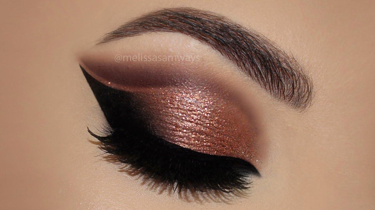 Image result for Copper Cut Crease Glitter MakeUp Tutorial | Melissa Samways