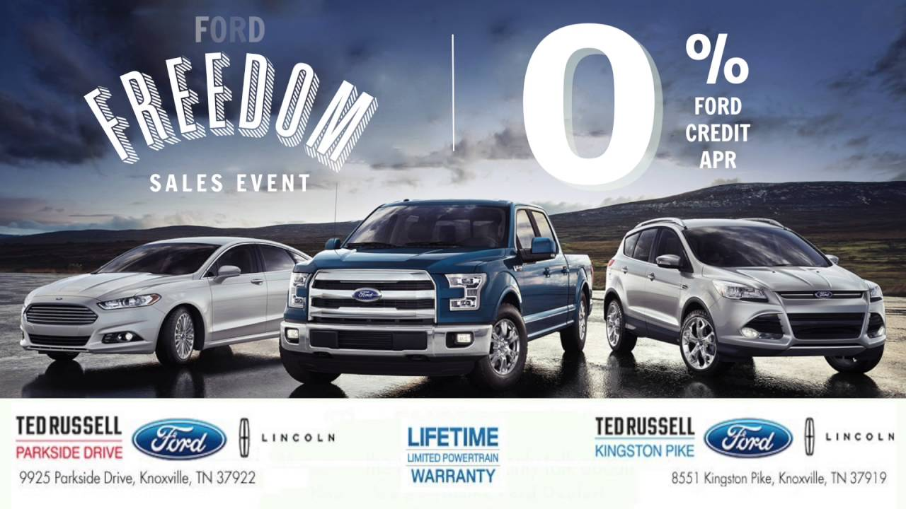 Ted russell ford freedom sales event