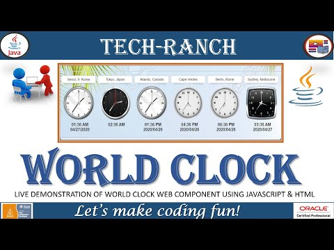 Live Demonstration Of Analog World Clock In HTML, JavaScript & CSS | Practice Project | @Tech-Ranch