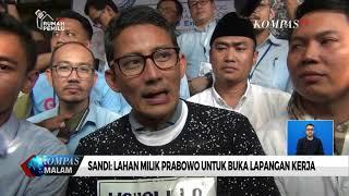 Sandi: Lahan Milik Prabowo untuk Membuka Lapangan Pekerjaan