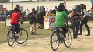 a m world school sports day girls slow cycle race