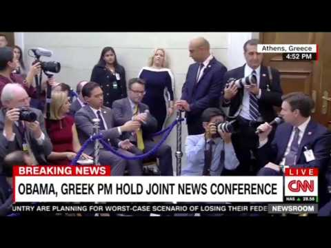 President Obama , Greek PM Alexis Tspiras Hold a Joint Press conference Athens