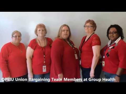 Solidarity Red for OPEIU Members at GHC