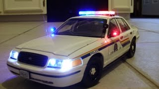 Custom 1:18 Scale Royal Canadian Mounted Police Car w/ LEDs and Siren!