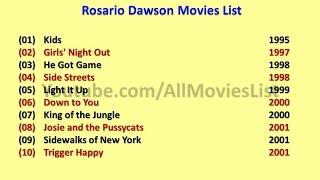 Rosario Dawson Movies List