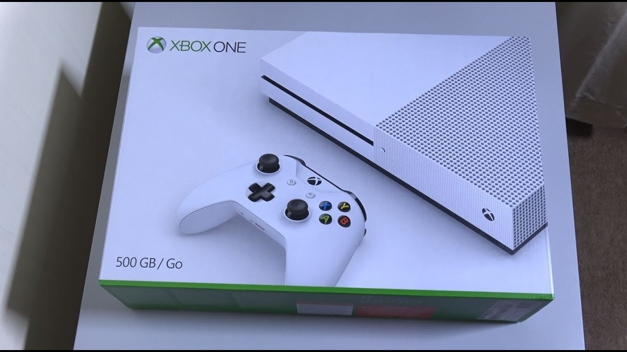 xbox one s unboxing first look 4k youtube. Black Bedroom Furniture Sets. Home Design Ideas