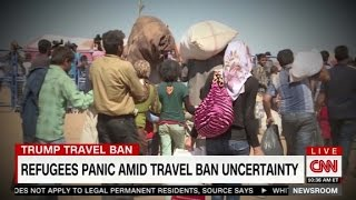 Refugees panic amid travel ban uncertainty