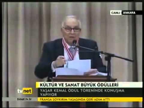 Yaşar Kemal son konuşması!