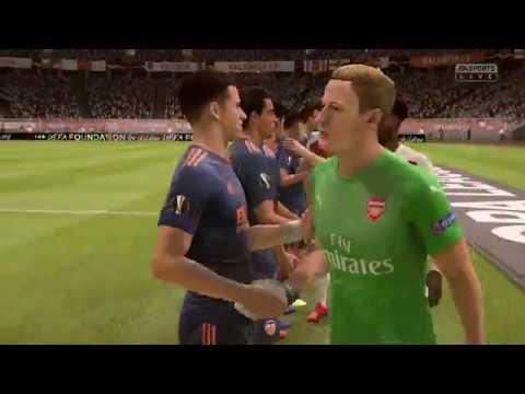 FIFA 19 - ARSENAL Vs. VALENCIA || UEFA EUROPA LEAGUE 2019 || FULL MATCH & GAMEPLAY (