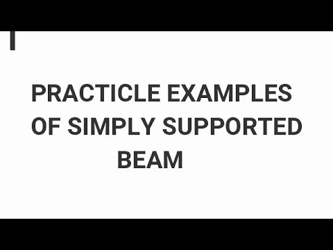 practicle examples of simply  supported  beam..civil graduate