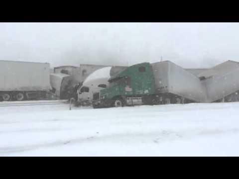 Highway 80 Cheyenne WY crash as it happens
